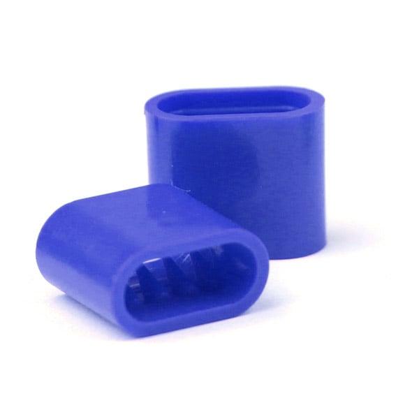 Chiusura in plastica blu 18 mm