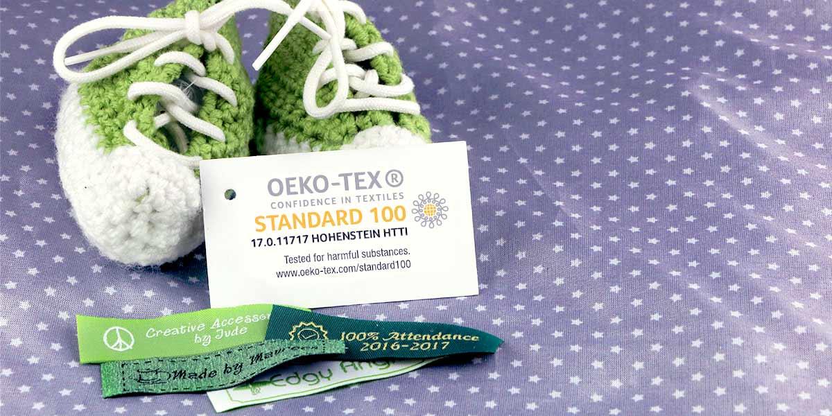 Etichetta Nome é certificata secondo l'OEKO-TEX® Standard 100