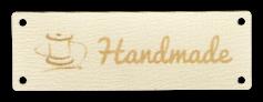 Etichette in pelle con testo e simbolo