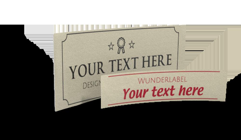 Etichette cotone personalizzate - con testo e simbolo