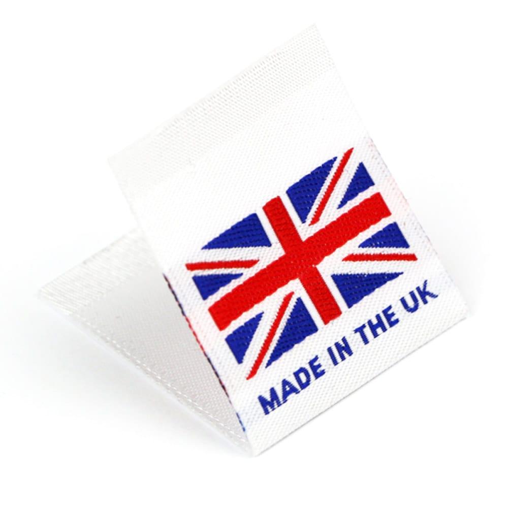 Etichetta tessuta 'Made in the UK'
