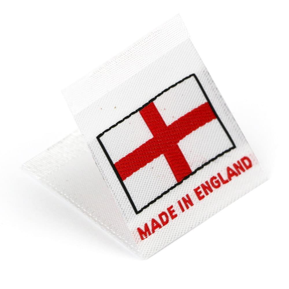 Etichetta tessuta 'Made in England'