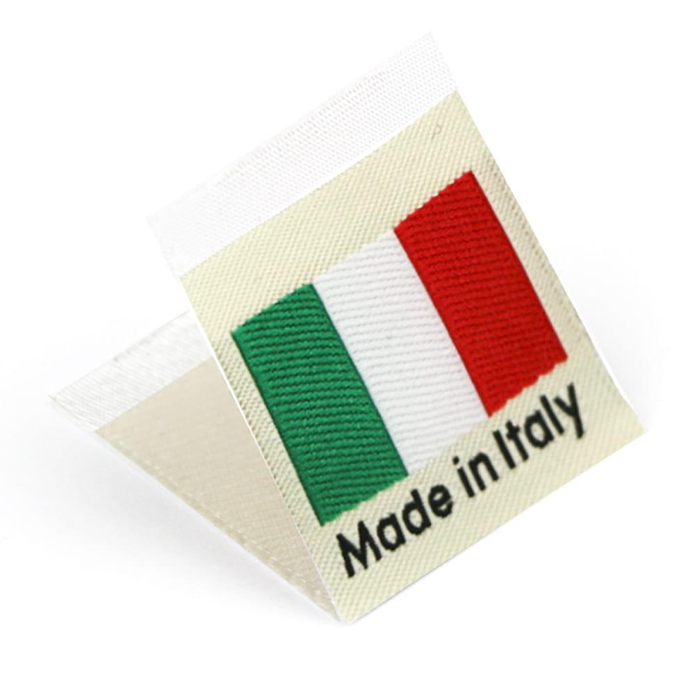Etichetta tessuta 'Made in Italy'