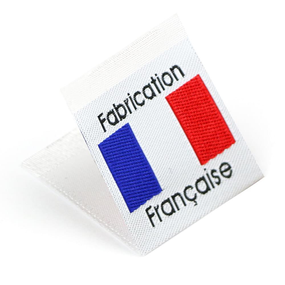 Etichetta tessuta 'Fabrication Française'