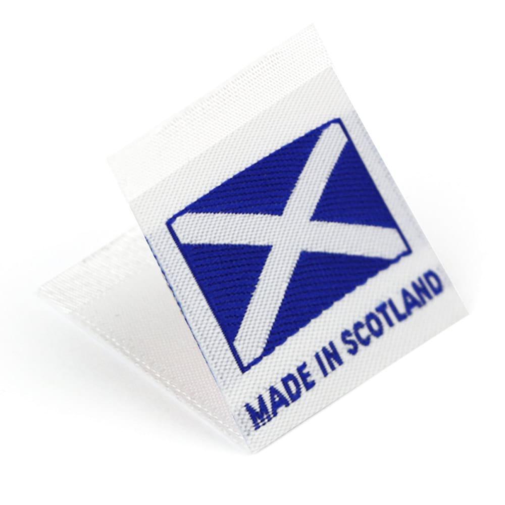 Etichetta tessuta 'Made in Scotland'
