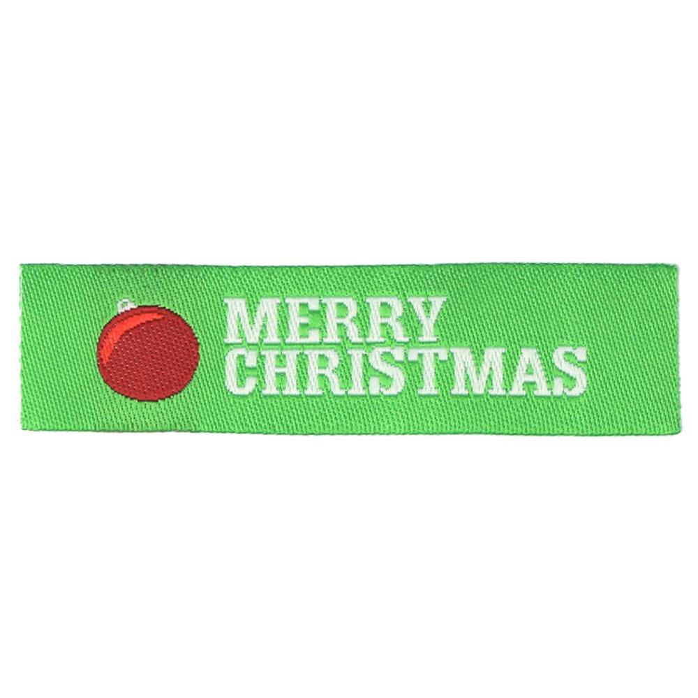 Etichette tessute natalizie - Decorazione