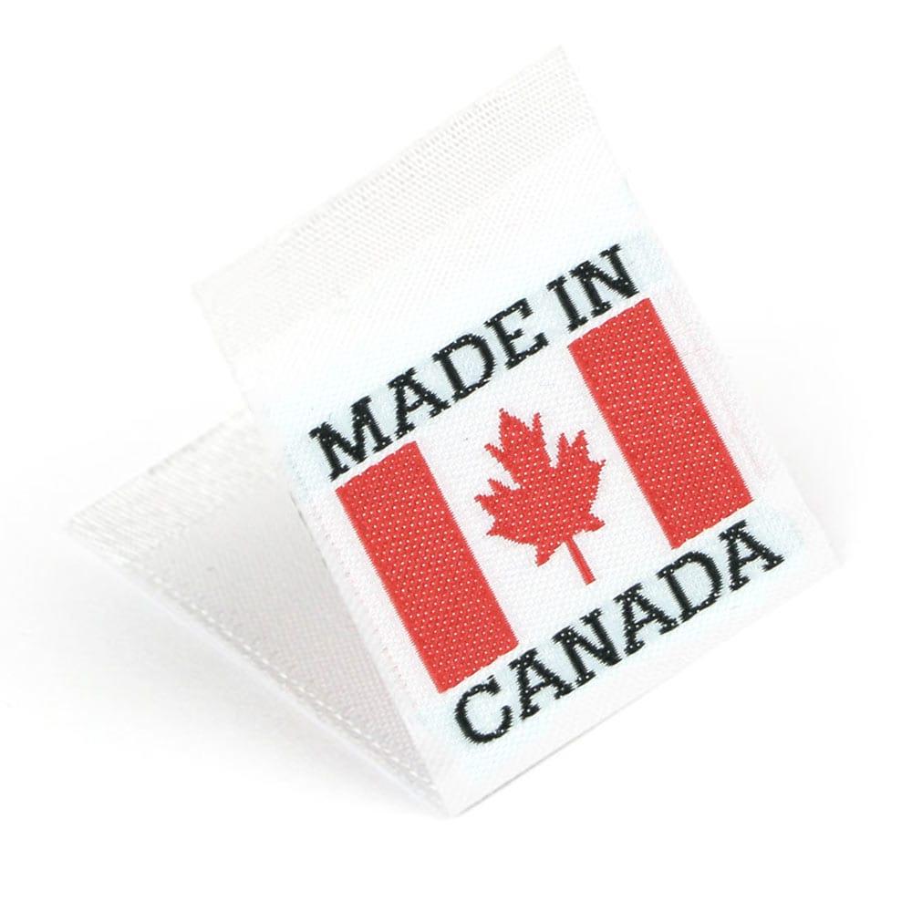 Etichetta tessuta 'Made in Canada'