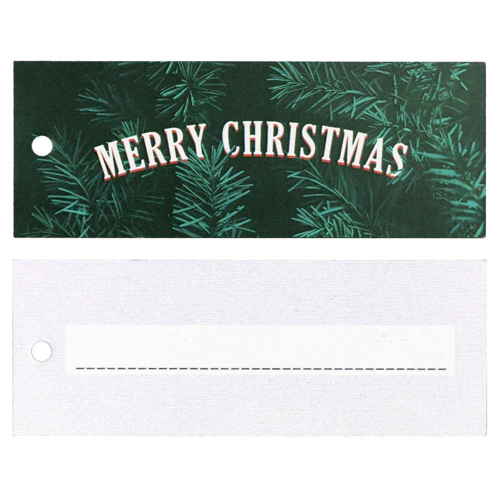 Cartellini natalizi – Buon Natale con rami di abete