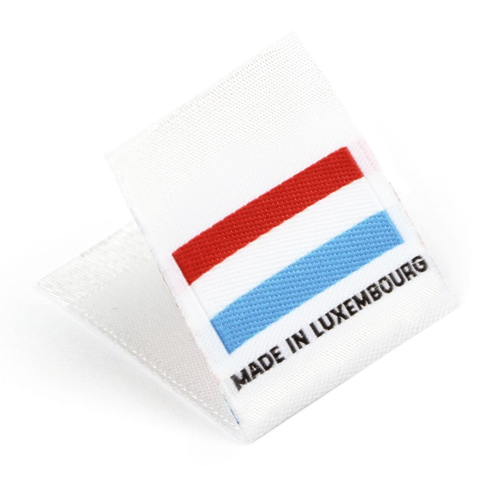 Etichetta tessuta 'Made in Luxembourg'