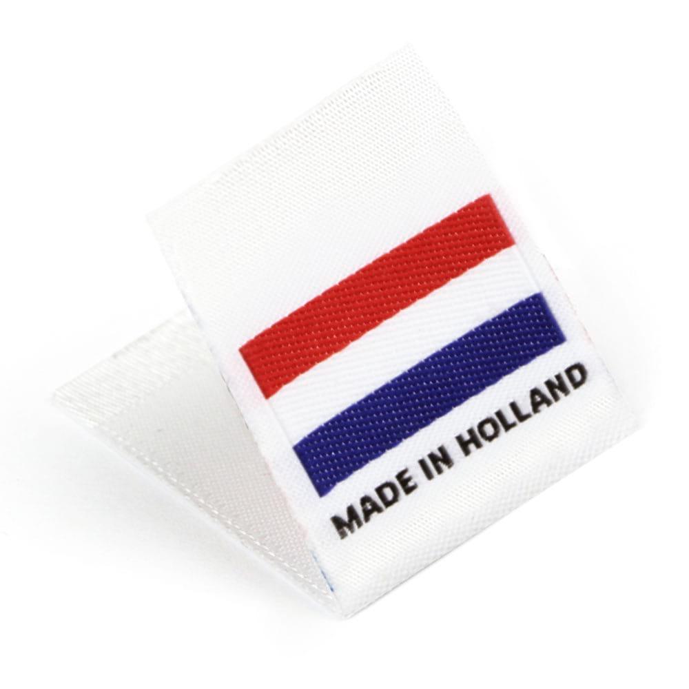 Etichetta tessuta 'Made in Holland'