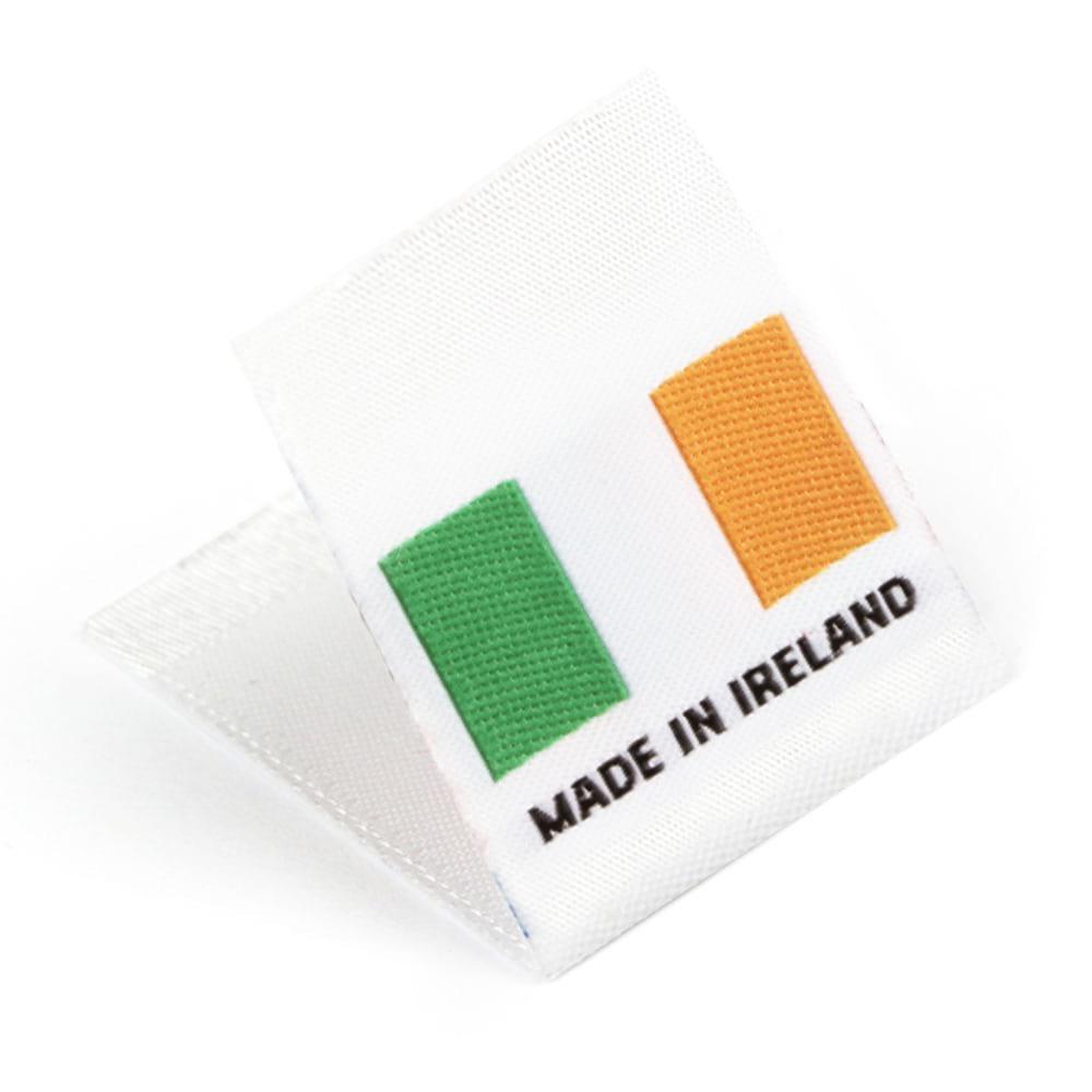 Etichetta tessuta 'Made in Ireland'