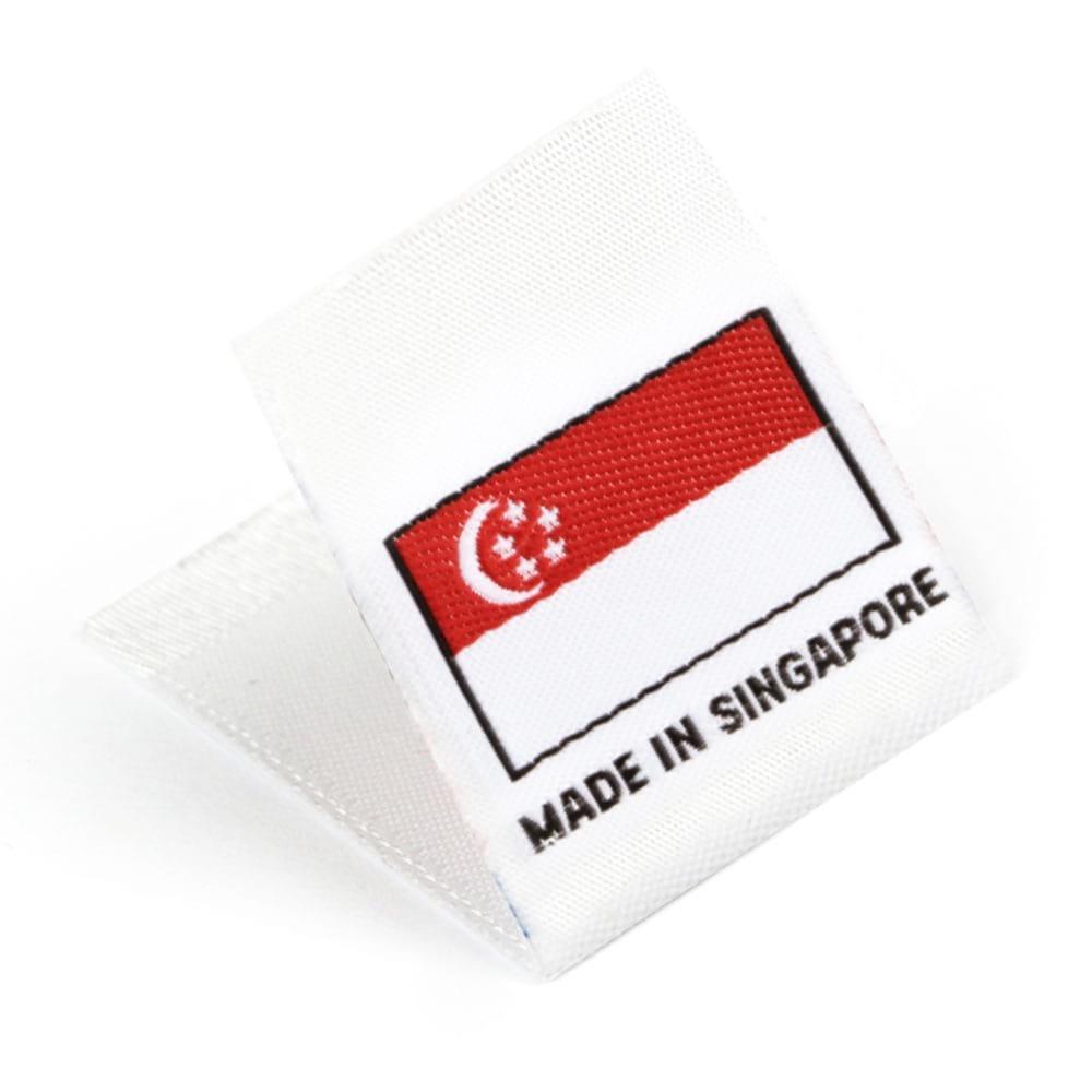 Etichetta tessuta 'Made in Singapore'