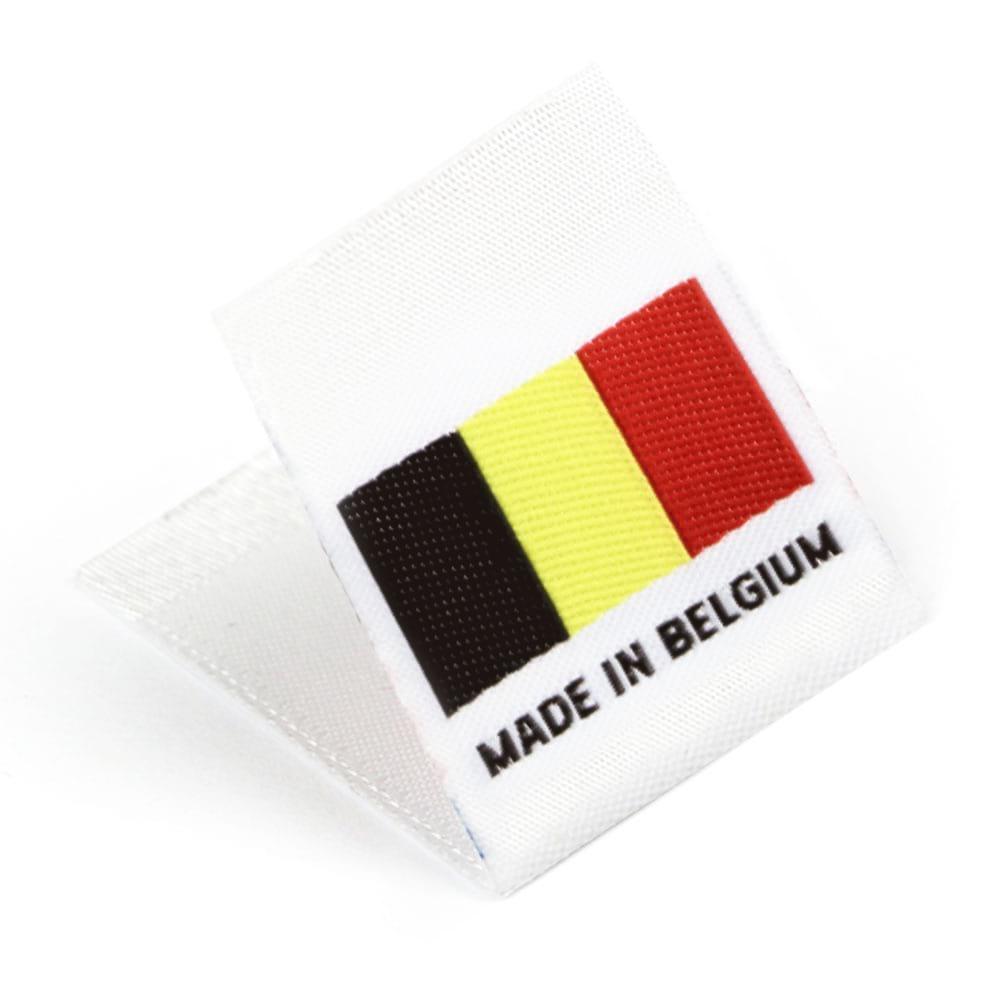 Etichetta tessuta 'Made in Belgium'