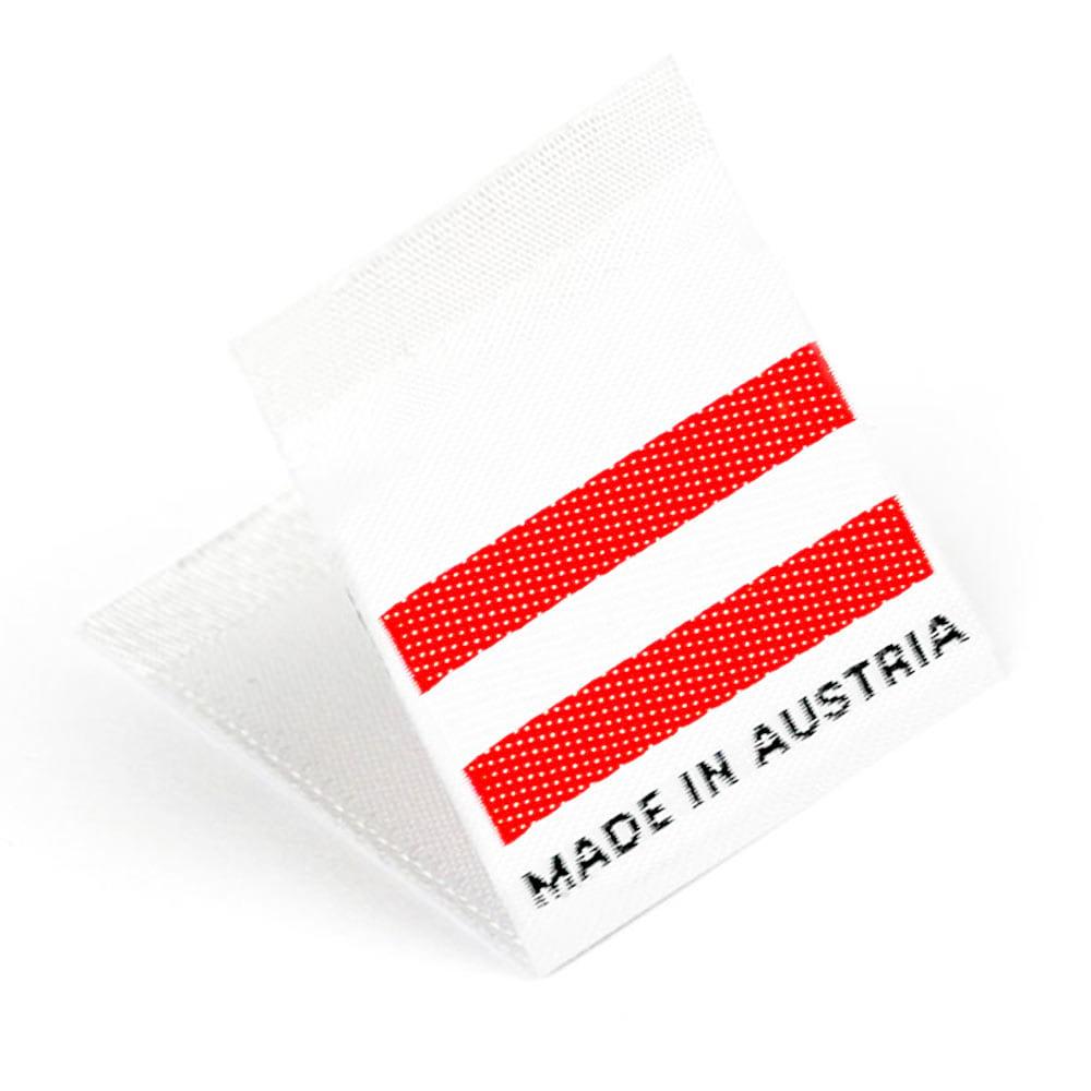Etichetta tessuta 'Made in Austria'